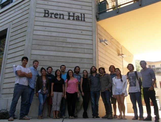 Fellows standing with Stefan Gelcich in front of the Bren School