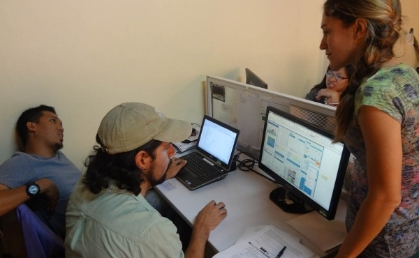 Students working on TURF-reserve Group Project Thesis