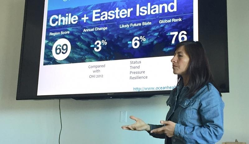 Patricia presenting