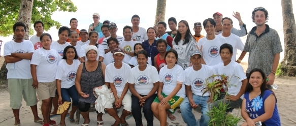 Rodrigo with a community in the Philippines