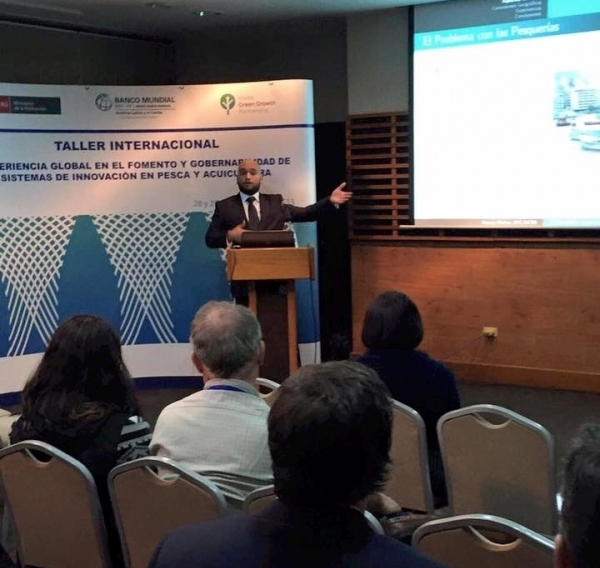 Renato presenting with TNC for World Bank in Lima Peru