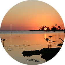 Lagoon at sunset